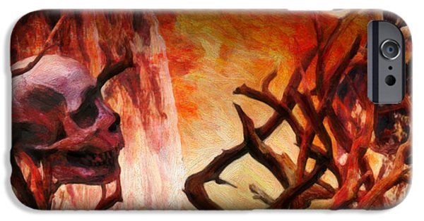Creepy iPhone Cases - The Illusion of Desire  iPhone Case by Jacob King