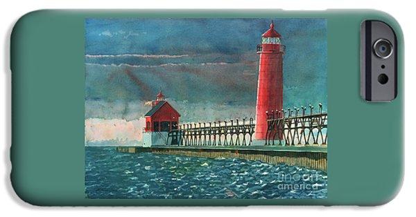 Chicago Paintings iPhone Cases - The Impending Storm iPhone Case by LeAnne Sowa