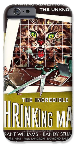 1950s Movies Mixed Media iPhone Cases - The Incredible Shrinking Man 1957 iPhone Case by Mountain Dreams