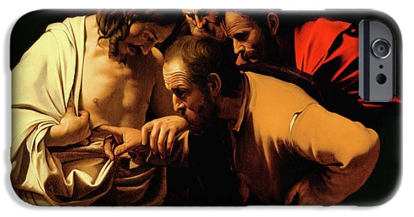 Religious iPhone Cases - The Incredulity of Saint Thomas iPhone Case by Caravaggio