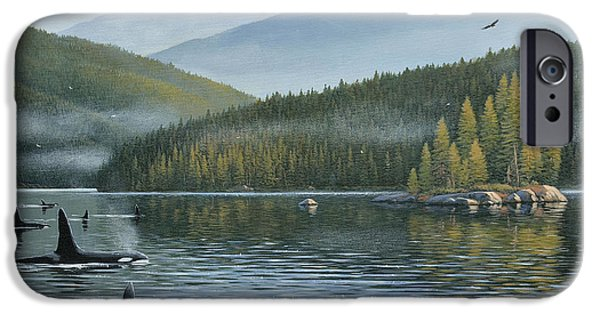 Bc Inside Passage iPhone Cases - The Inside Passage iPhone Case by Jake Vandenbrink