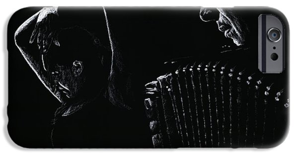 Celebrities Pastels iPhone Cases - The Intensity of Flamenco iPhone Case by Richard Young