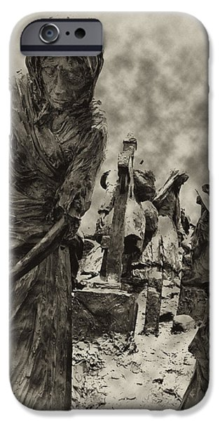 Blight iPhone Cases - The Irish Famine iPhone Case by Bill Cannon