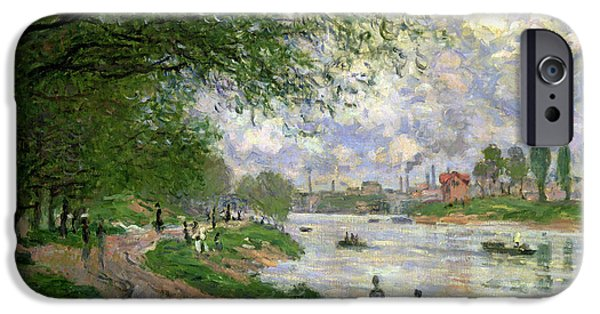 Pathway iPhone Cases - The Island of La Grande Jatte iPhone Case by Claude Monet