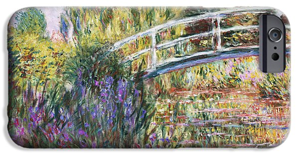 Japanese iPhone Cases - The Japanese Bridge iPhone Case by Claude Monet