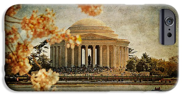 Nation iPhone Cases - The Jefferson Memorial iPhone Case by Lois Bryan