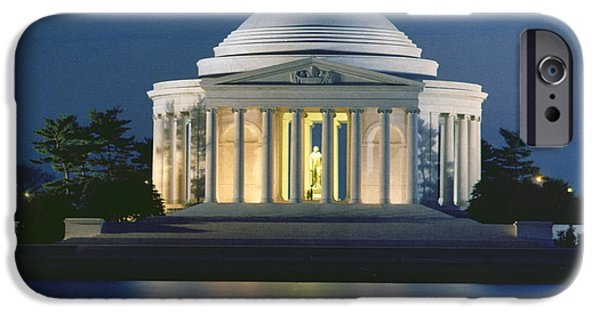 Pope iPhone Cases - The Jefferson Memorial iPhone Case by Peter Newark American Pictures