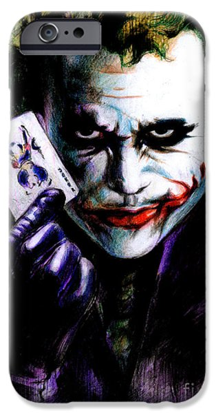 The Joker iPhone Case by Lin Petershagen