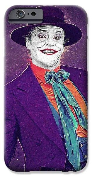 Batman Poster iPhone Cases - The Joker iPhone Case by Taylan Soyturk