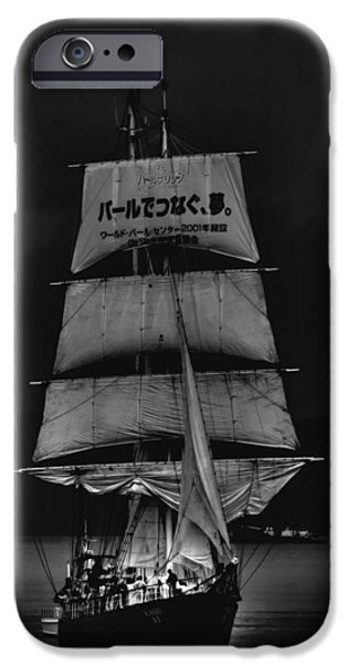 Tall Ship iPhone Cases - The Kaisei Tall Ship iPhone Case by David Patterson