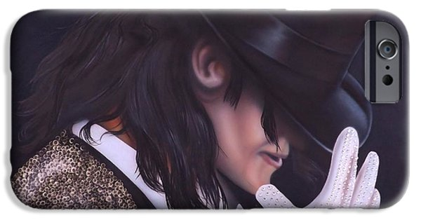 King Of Pop iPhone Cases - The King of Pop iPhone Case by Darren Robinson