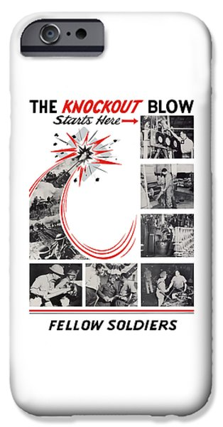 War iPhone Cases - The Knockout Blow Starts Here iPhone Case by War Is Hell Store