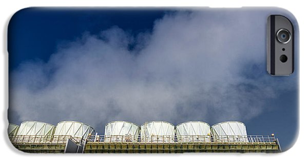 Power iPhone Cases - The Krafla Geothermal Power Station iPhone Case by Panoramic Images