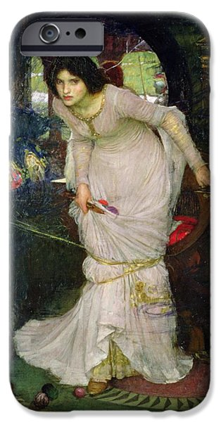 Pre-raphaelites iPhone Cases - The Lady of Shalott iPhone Case by John William Waterhouse