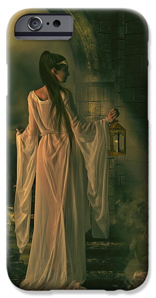 Gothic iPhone Cases - The Lady of Shalott iPhone Case by Shanina Conway