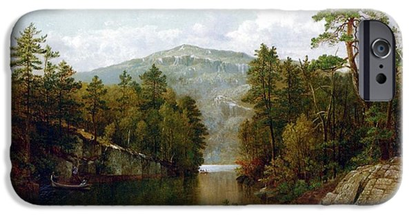 Forest iPhone Cases - The Lake George iPhone Case by David Johnson