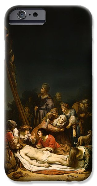 The Followers Paintings iPhone Cases - The Lamentation iPhone Case by Govaert Flink