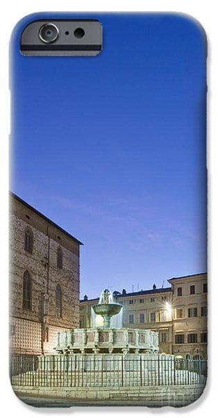 Man Made Space iPhone Cases - The Landmark Fontana Maggiore iPhone Case by Rob Tilley