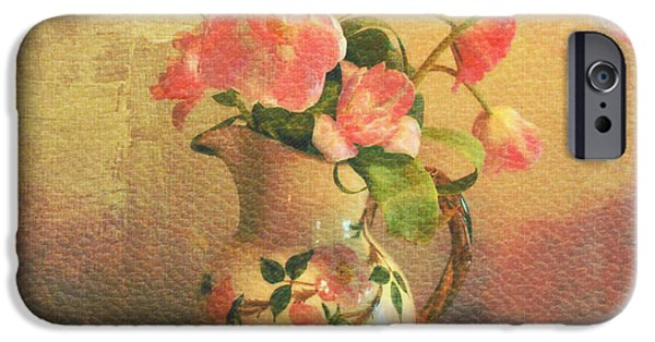 Interior Still Life Digital iPhone Cases - The Language Of Flowers iPhone Case by Kathy Bucari