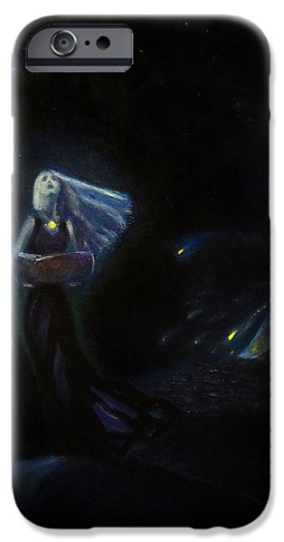 Night Angel iPhone Cases - The last angel iPhone Case by Aleksei Gorbenko
