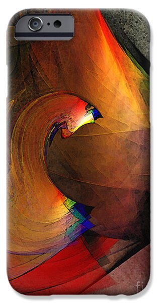 Illustrative iPhone Cases - The Last Curtain iPhone Case by Karin Kuhlmann