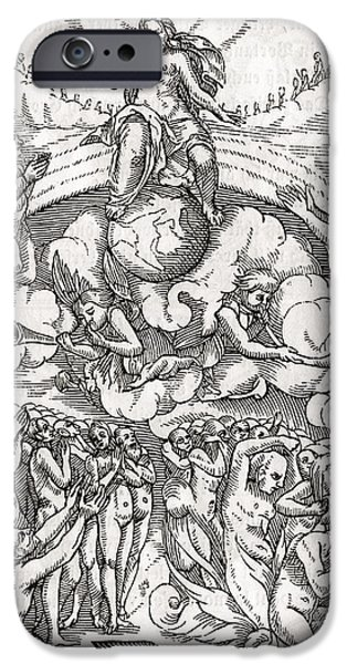 Switzerland Drawings iPhone Cases - The Last Judgement Loosely Based On iPhone Case by Ken Welsh