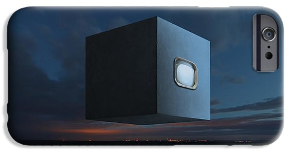 Surreal Landscape Digital iPhone Cases - The Last Known Photograph of God v2 iPhone Case by Michal Karcz