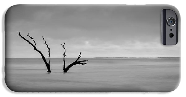 Rainy Day iPhone Cases - Im Not Alone - Folly Beach SC iPhone Case by Donnie Whitaker