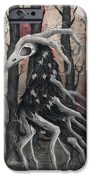 Crows iPhone Cases - The Last Song iPhone Case by Jody Scheers