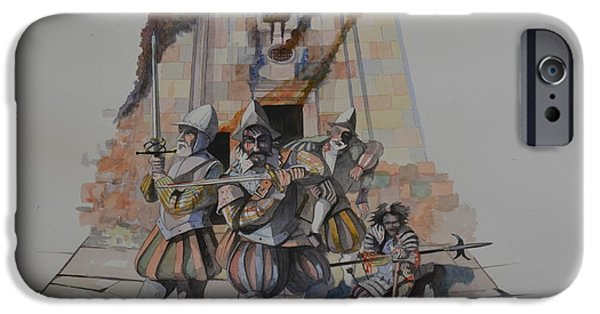 Watercolour Portrait iPhone Cases - The last stand iPhone Case by Ray Agius