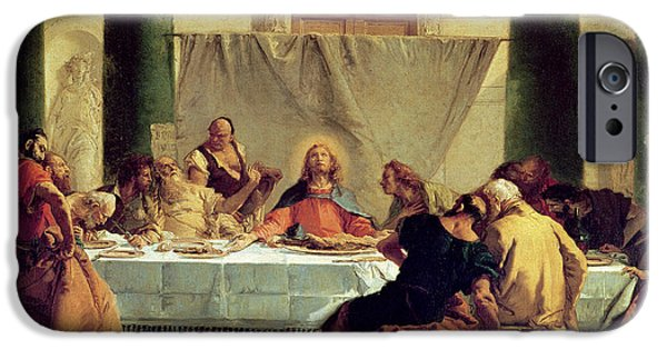 The Followers Paintings iPhone Cases - The Last Supper iPhone Case by Giovanni Battista Tiepolo