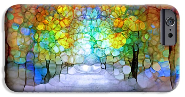 Pathway Digital iPhone Cases - The Laughing Forest iPhone Case by Tara Turner