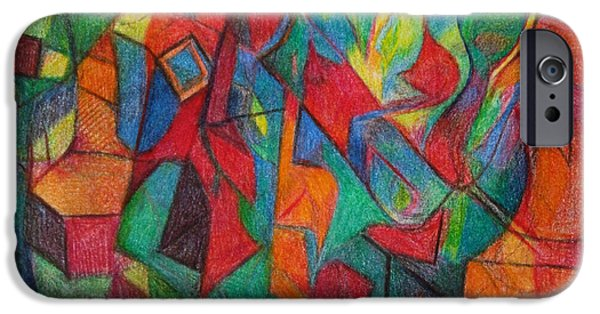 Abstractions Drawings iPhone Cases - The Letter Alef iPhone Case by David Baruch Wolk