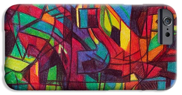 Abstractions Drawings iPhone Cases - The letter nun iPhone Case by David Baruch Wolk