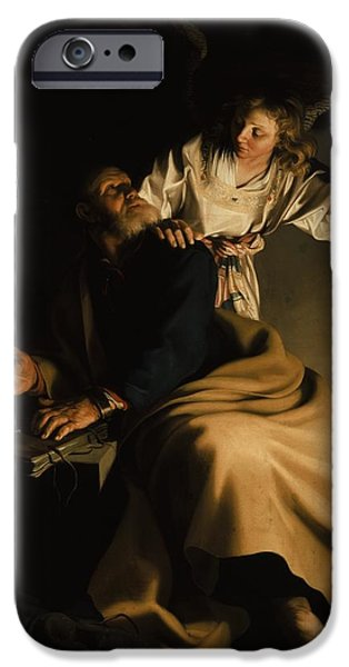 Dark Angels iPhone Cases - The Liberation of Saint Peter iPhone Case by Abraham Bloemaert