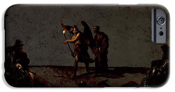 Liberation Paintings iPhone Cases - The Liberation of Saint Peter iPhone Case by Leonard Bramer