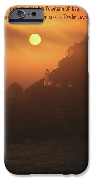 Lighthouse Mixed Media iPhone Cases - The Light iPhone Case by Bonnie Bruno
