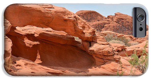 Red Rock Tapestries - Textiles iPhone Cases - The Light iPhone Case by Edna Weber