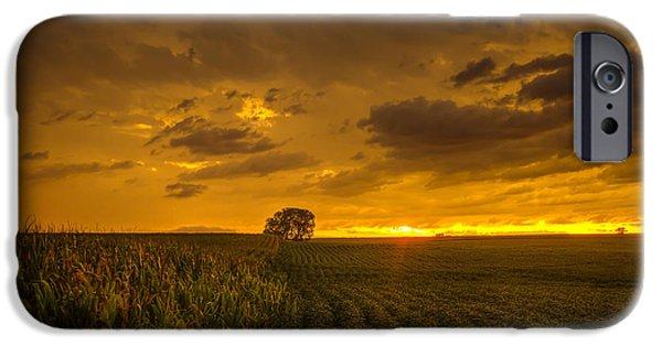 Nebraska iPhone Cases - The light of dusk iPhone Case by Joel Jones