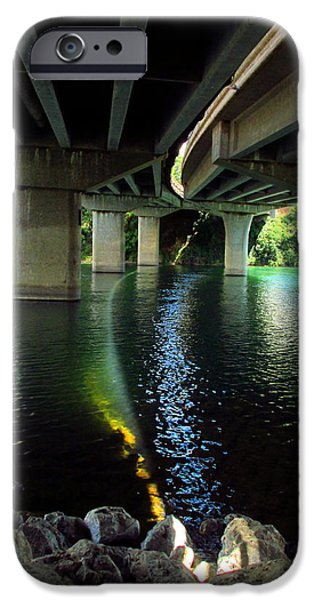 Business Photographs iPhone Cases - The Light Under Bonneview Bridge iPhone Case by Joyce Dickens