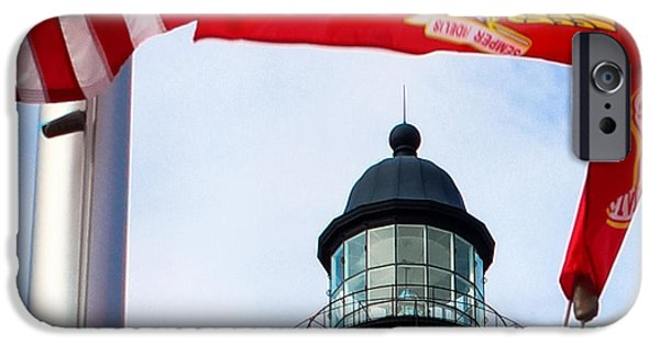 July 4th iPhone Cases - The Lighthouse and The Veterans Memorial iPhone Case by Rene Triay Photography