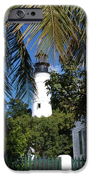 Susanne Van Hulst iPhone Cases - The Lighthouse in Key West II iPhone Case by Susanne Van Hulst
