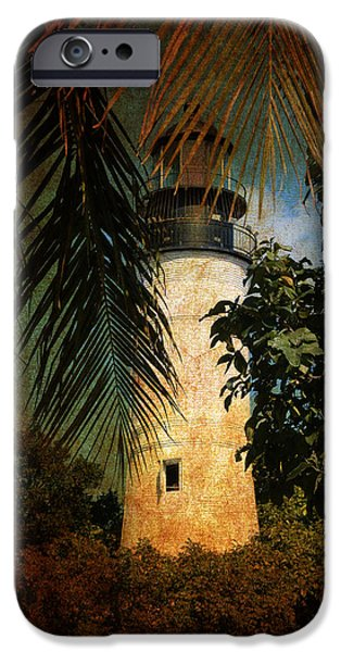 Lighthouse iPhone Cases - The Lighthouse in Key West iPhone Case by Susanne Van Hulst