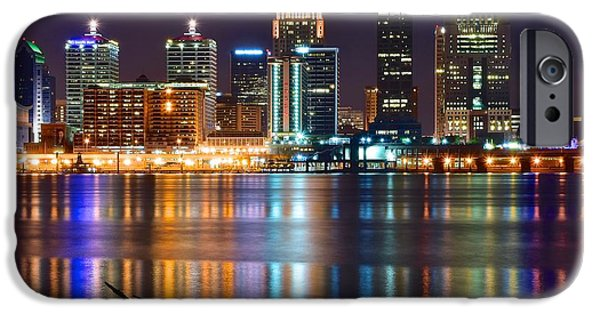 Louisville iPhone Cases - The Lights of a Louisville Night iPhone Case by Frozen in Time Fine Art Photography