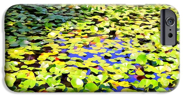 Nature Abstracts iPhone Cases - The Lily Pond #2 iPhone Case by Ed Weidman