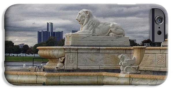 Recently Sold -  - Storm iPhone Cases - The Lions of Belle Isle. iPhone Case by Jim Richardson