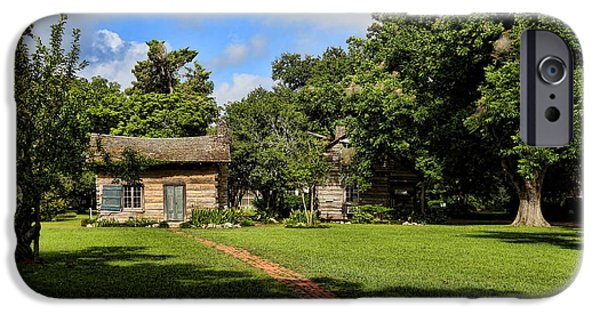 Cabin Window iPhone Cases - The Little Old House iPhone Case by Judy Vincent