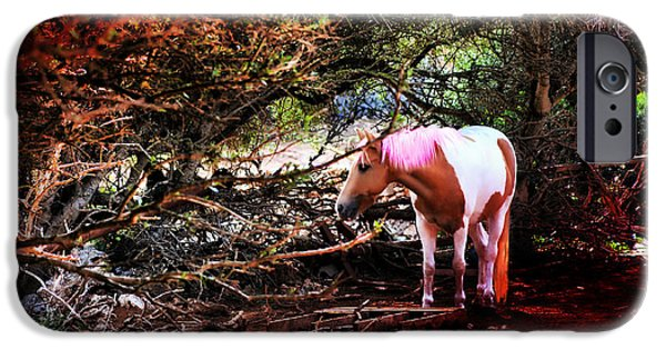 Meadow Photographs iPhone Cases - The little pink unicorn by pedro cardona iPhone Case by Pedro Cardona