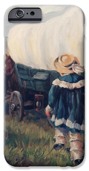 The Little Pioneer Western Art iPhone Case by Kim Corpany