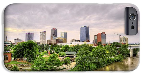 Arkansas iPhone Cases - The Little Rock Skyline iPhone Case by JC Findley